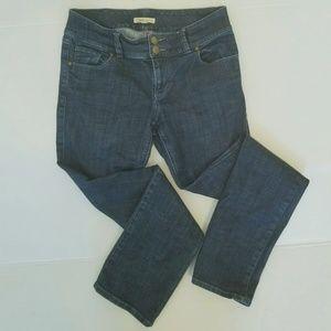 CAbi Jean's Dark Wash straight leg Style 201 sz 10
